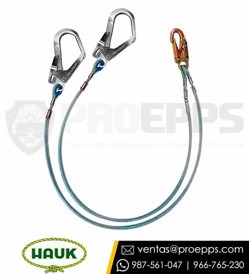Linea de Conexion Doble Hauk XF2G de Cable de Acero